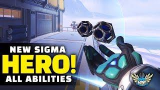 Overwatch - NEW Hero Sigma Gameplay! - ALL Abilities Breakdown