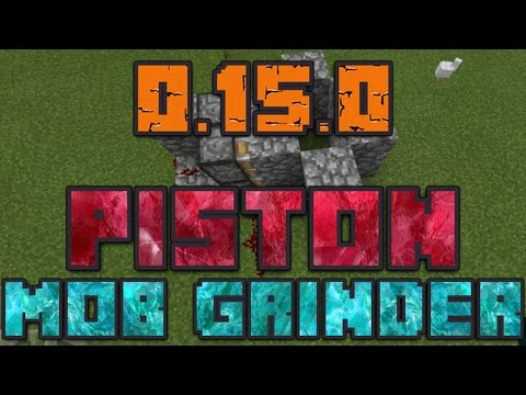 How to Make a Piston Mob Grinder in Minecraft PE (Pocket Edition) 0.15.0!