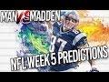 Predicting Every NFL Week 5 Winner...HUGE NIGHT GAME UPSETS!   Man vs Madden 2017