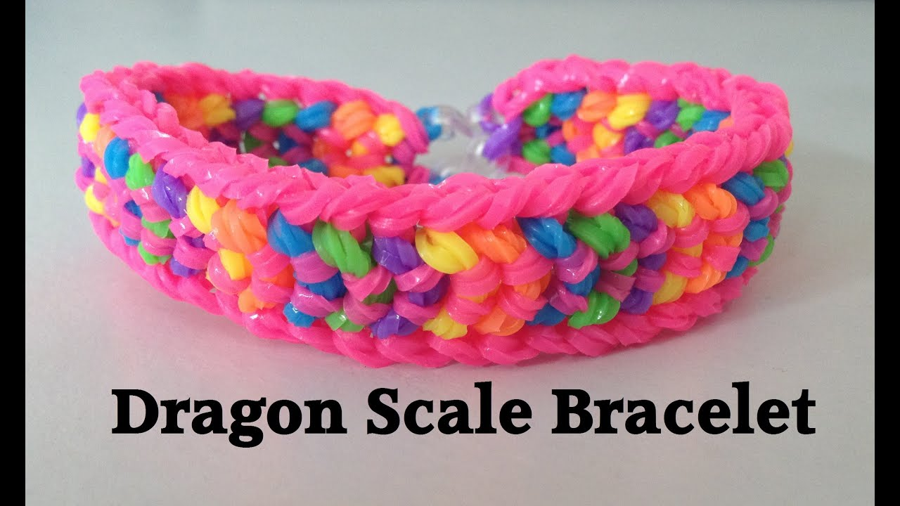 loom band dragon scale instructions