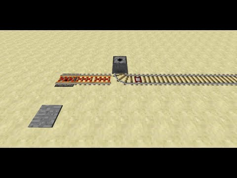 Superflat Minecart Station -- Minecraft Tutorial
