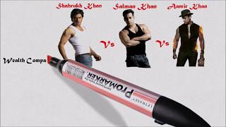 Shahrukh Khan Vs Aamir Khan Vs Salman Khan Comparison