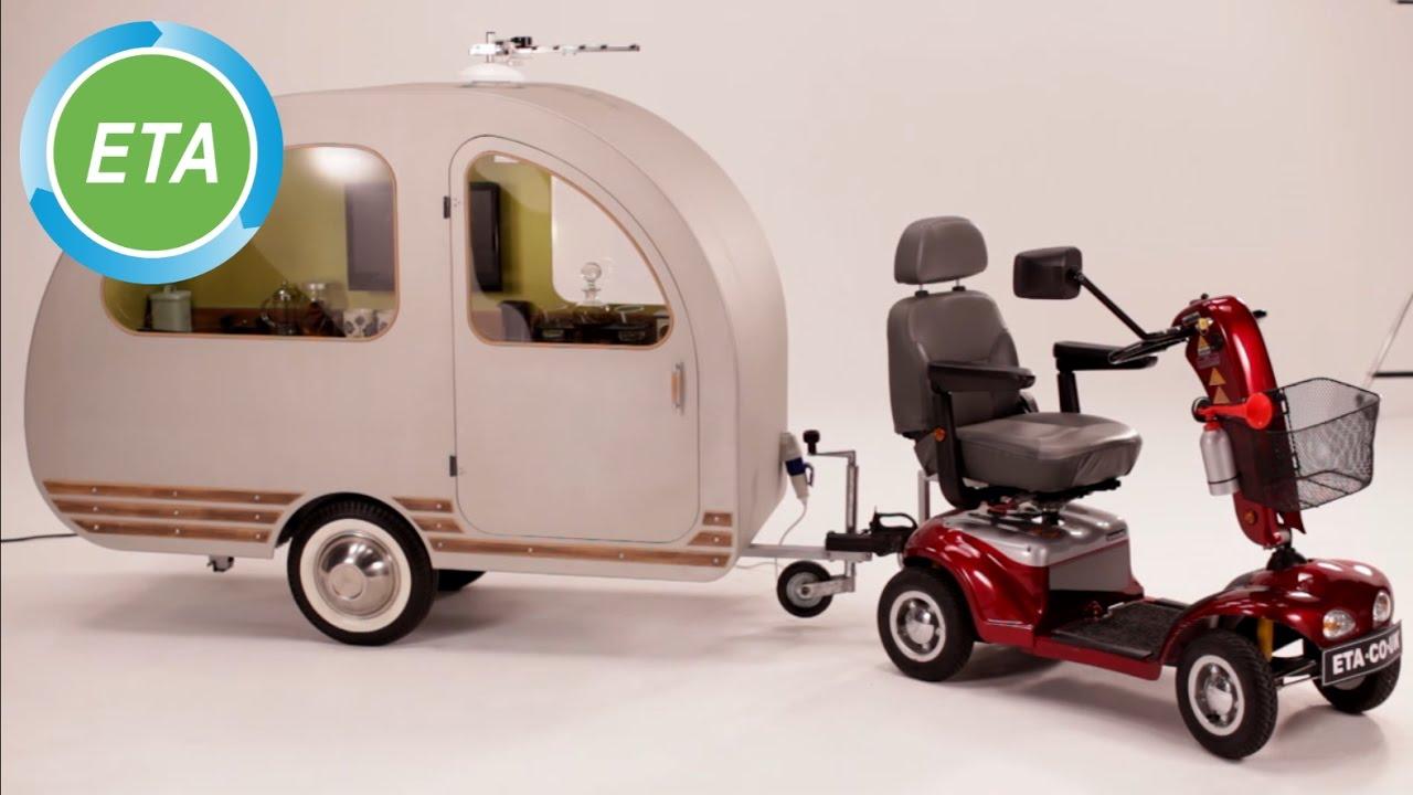 Qtvan Mobility Scooter Caravan Youtube