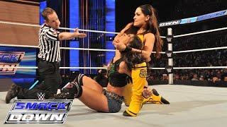 ගැටයකට නිමාවූ සුකුමාල තරඟය AJ Lee vs. Brie Bella: SmackDown, March 5, 2015