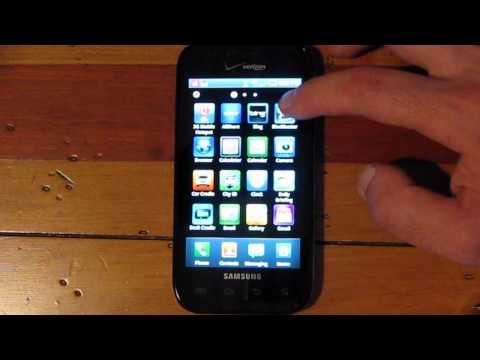 Samsung Fascinate (Verizon) Software Tour