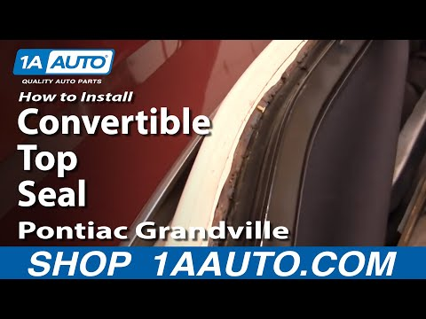 How To Install Replace Convertible Top Seals 71-76 Caprice Classic Eldorado Gran