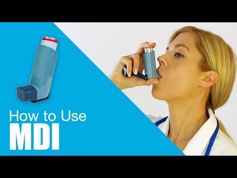 How to use Metered Dose Inhaler (MDI)