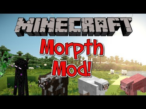Minecraft 1.7.10 Mod - The Morph Mod - Collect/Turn into any Mob! (The Shape Shifter Mod)