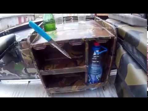 Самодельный столик в лодку ПВХ. с фанеры. Table for PVC boats