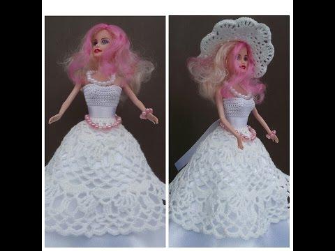Вязание крючком для барби свадебное платье 58
