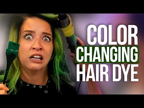 Full Head of Color-Changing Hair Dye!!! (Beauty Break)