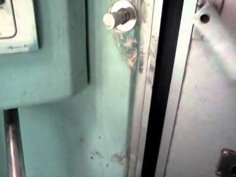 Missing toilet lock in Indian Railways