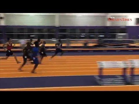 Coleman runs 6.37 seconds to break 60m world record