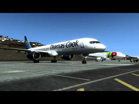 [HD] FSX Madeira X Landing (Captain Sim 757) # 9 Most Extreme Airports