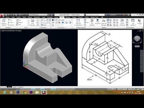 AUTOCAD MECHANICAL MODELING PART1 - MAKING A 3D MODEL-短片爆報