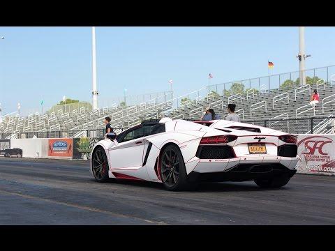 Lamborghini vs Lamborghini Head 2 Head 1/4 Mile Drag Racing BEST ENGINE SOUNDS EVER