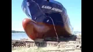 Ship Launch at Damen Shipyard Galati, Romania