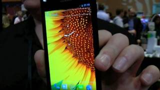 Huawei Ascend P1 S (thinnest smartphone) hands-on at CES 2012