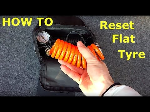How to reset tyre pressure  Flat Tyre Monitor BMW e90