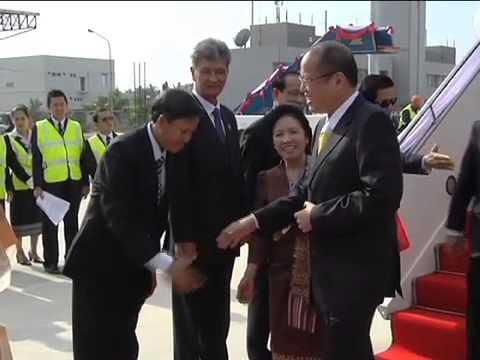 Arrival at Wattay International Airport 11/04/2012