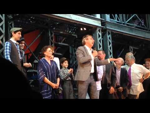 Newsies Broadway closing performance curtain speech