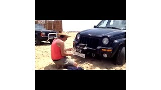 5000lb Winch Fared car TEST winch 5000LB LIBYA BENGHAZI وينش 5000 باوند تجربة