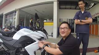 2013-02-13 Duang and His Kawasaki Z250 in Chiang Mai