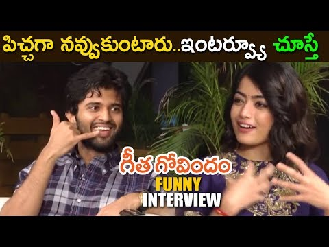 VijayDevarakonda & Rashmika Funny interview || Geetha Govindam Movie Special interview 2018
