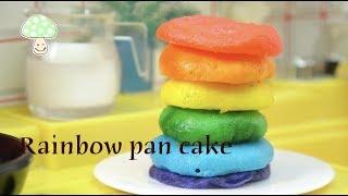 Edible Rainbow pan cake #2 No music