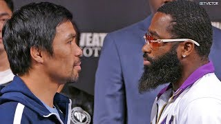 Manny Pacquiao vs. Adrien Broner FACE OFF at the MGM in Las Vegas