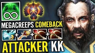 Attacker Kunkka MegaCreeps Comback This Build never Out of Date - Dota 2 Immortal Rank Attacker