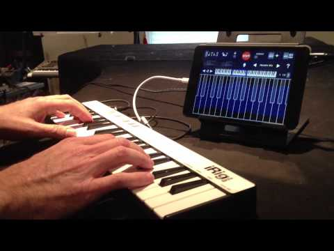 Jordan Rudess plays iRig KEYS -The universal portable keyboard for iPa...