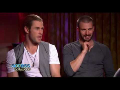 Access Hollywood: Chris Evans and Chris Hemsworth (extended)