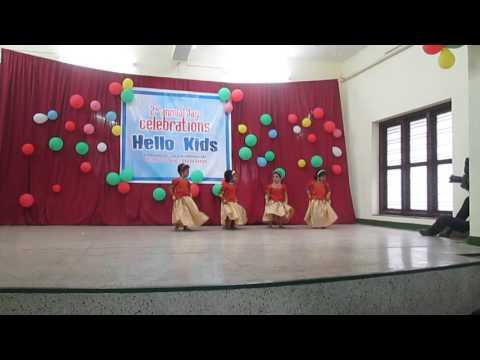 pavada nalla pavada, dance by nursery group of hellokids-giggles, trivandrum