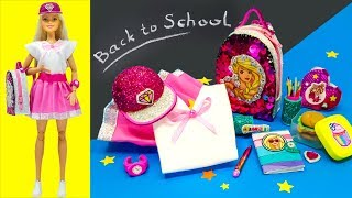 Barbie Doll School Set. Back To School Barbie Hacks DIY Miniature Crafts