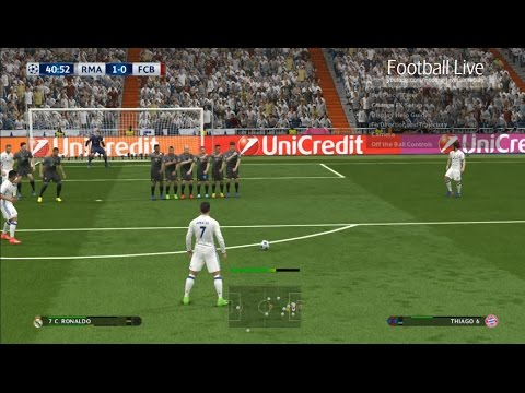 PES 2017 | Real Madrid vs Bayern Munich | Free Kick Goal Ronaldo | UEFA Champions League