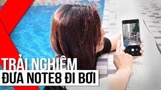 FPT Shop - Đưa Galaxy Note8 đi bơi: trải nghiệm khả năng chống nước