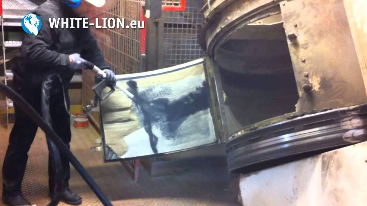 white lion trockeneisstrahlanlage wl3000 profi im einsatz youtube. Black Bedroom Furniture Sets. Home Design Ideas