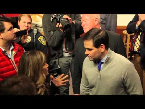 Sheryn from Miami Beach Confronts Rubio on Climate Change.