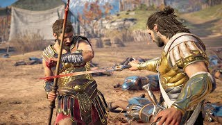 Assassin's Creed Odyssey - Deimos vs Brasidas Spartan Cutscene & Kleon Boss Fight