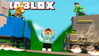 Roblox Adventure - DON'T GET CRUSHED BY THE SUBWAY TRAINS! (Subway Surfers Obby)