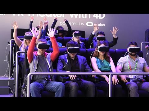 Hands in the air! CNET rides Samsung's VR roller coaster