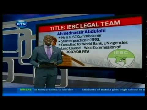 The IEBC legal team