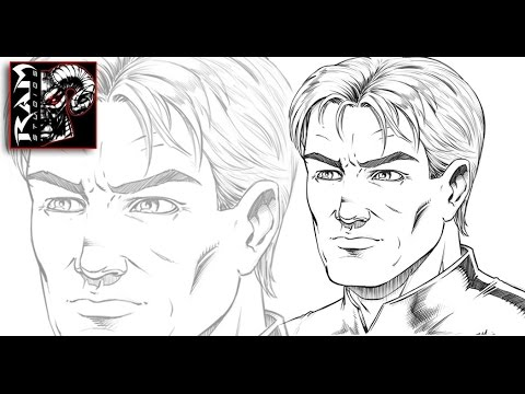 How to draw comic book faces male character using sketchbook pro