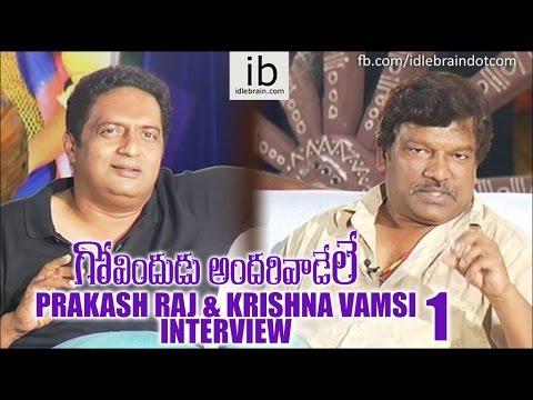 Prakash Raj & Krishna Vamsi interview about GAV 1 - idlebrain.com