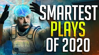 THE SMARTEST CS:GO PRO PLAYS OF 2020! (200IQ PLAYS!)