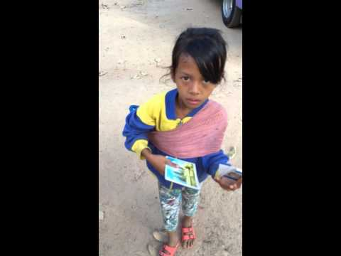 Cambodian Girls Asks For Candy And Money video