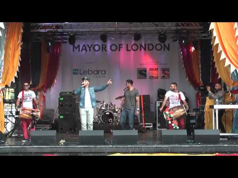 Best Punjabi Bhangra Music At Vaisakhi 2014 Trafalgar Sq London video