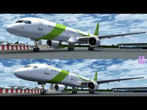 FSX Captain Sim 757 vs Quality Wings 757