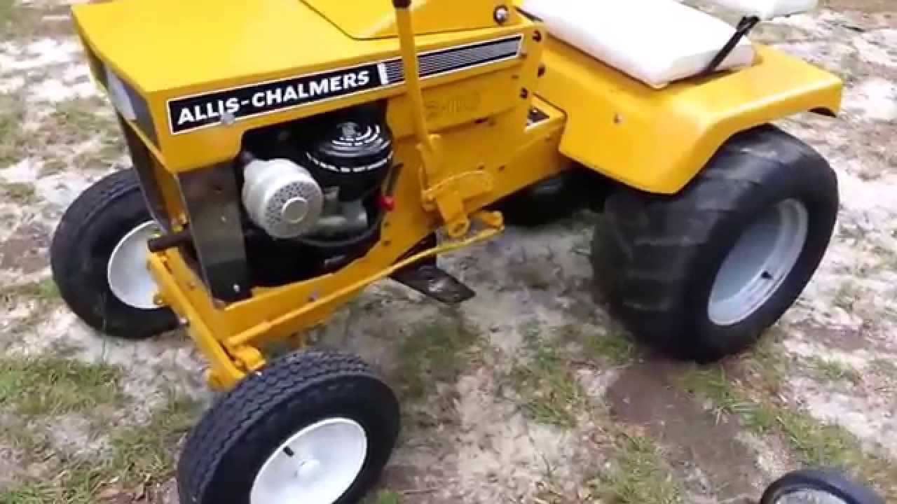 Allis Chalmers Simplicity Garden Tractor Lineup Youtube